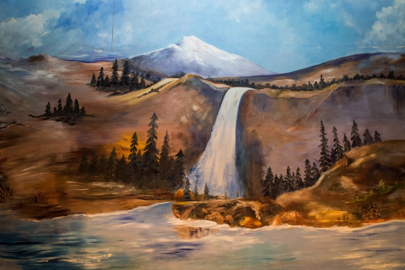 Baptistry painting at United Cornerstone Missionary Baptist Chur