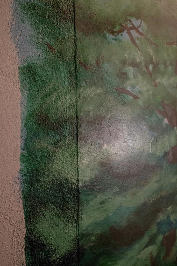 Bethany Baptist Church baptistry painting edge detail