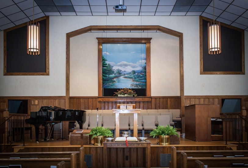 Bethany Baptist Church closer view from sanctuary