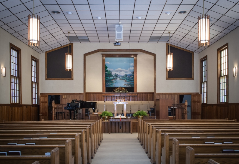 Bethany Baptist Church view from sanctuary