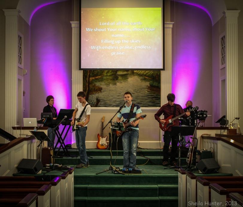Matt sings at Wakefield Central Baptist Church