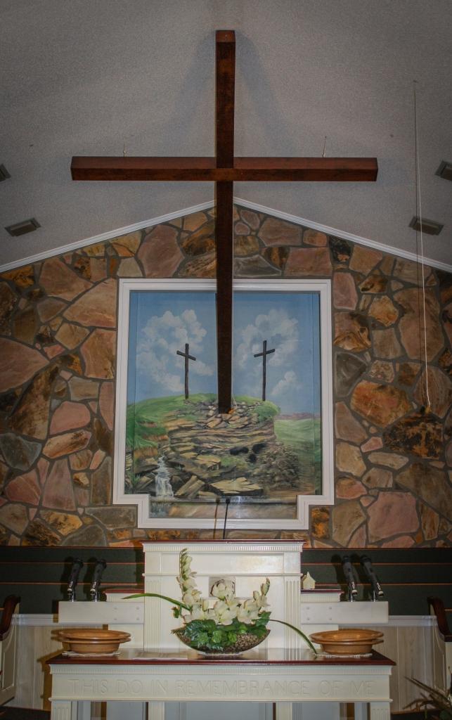 Temple Baptist sanctary view closer