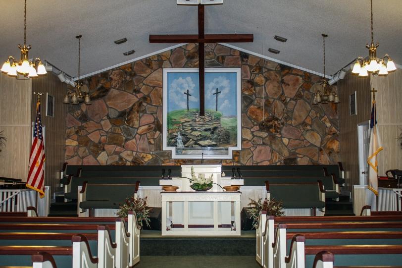 Temple Baptist sanctary view