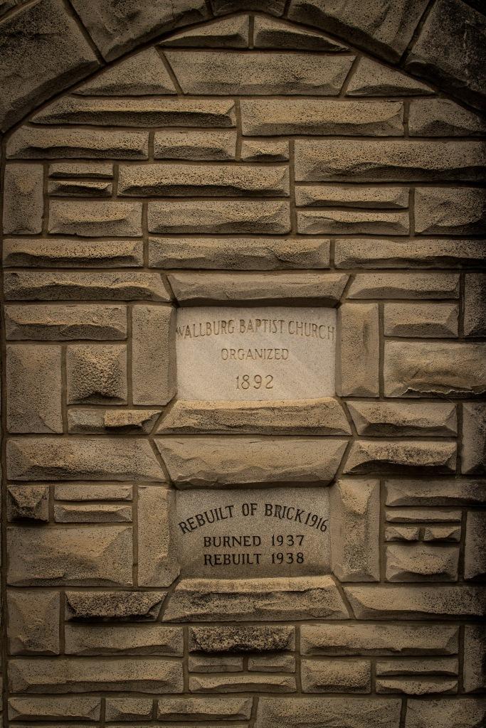 Wallburg Baptist Church cornerstone