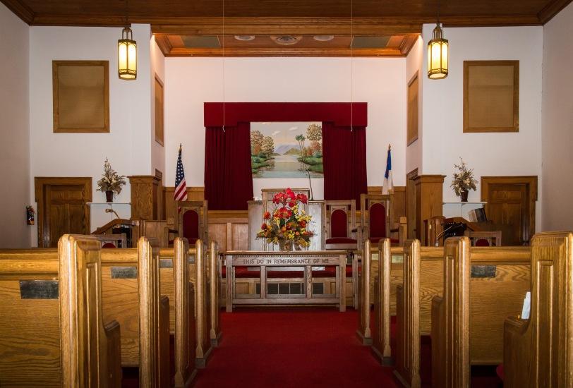 Wallburg Baptist Church from halfway back