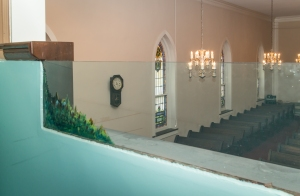 Jersey Baptist Church view from baptistry to the left