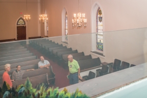 Jersey Baptist Church view from baptistry to the right