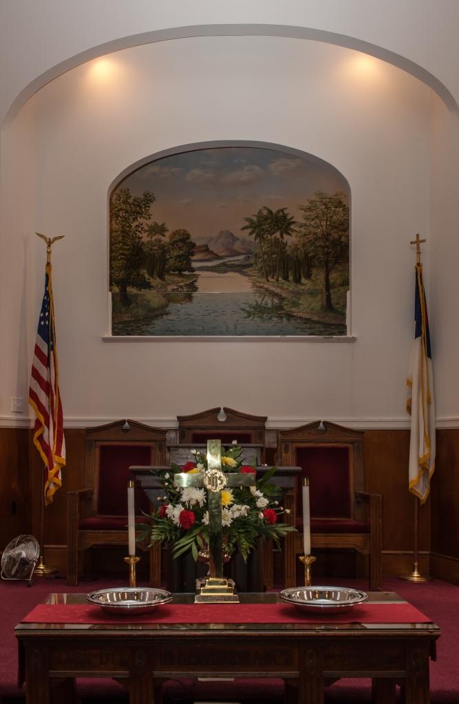 Kendalls Baptist Church baptistry painting #1