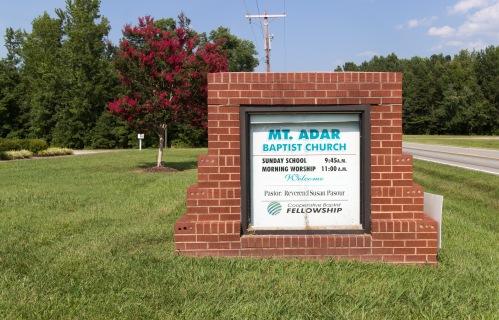 Mt. Adar Baptist Church sign