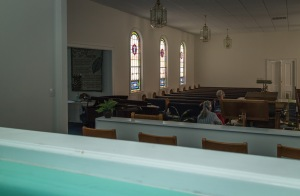 Mt. Adar Baptist Church view to the left from baptistry