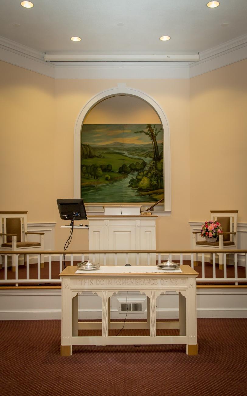 Warners Chapel Church of Christ baptistry #2